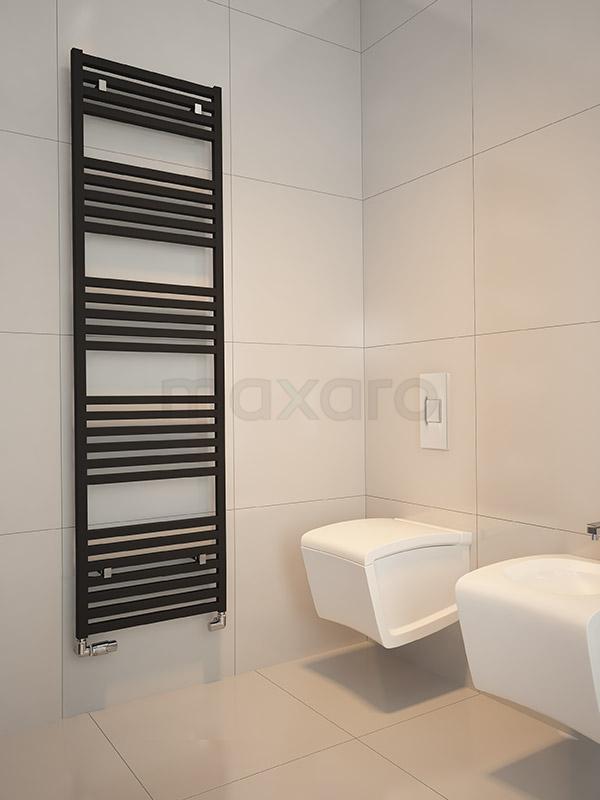 Handdoekradiator in strak design Tegel