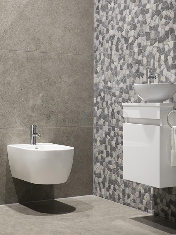 Natuursteen toilet tegel inspiratie maxaro - Imitatie natuursteen muur tegel ...