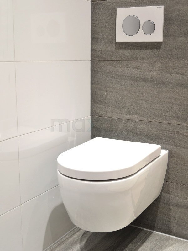 Natuursteen tegels toilet met zwarte fontein   Maxaro