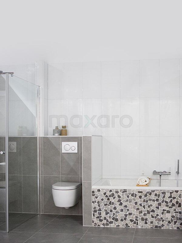 Uni badkamer tegel inspiratie maxaro - Badkamer tegelmat wit ...
