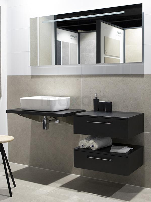 Groot formaat natuursteen badkamer - Tegel inspiratie | Maxaro