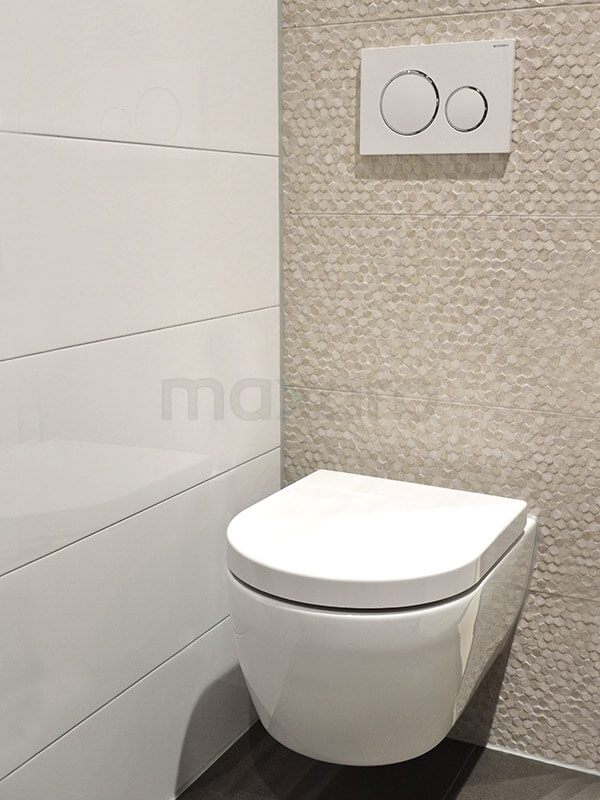 Top Uni tegels in toilet met handdoekring | Maxaro MJ74