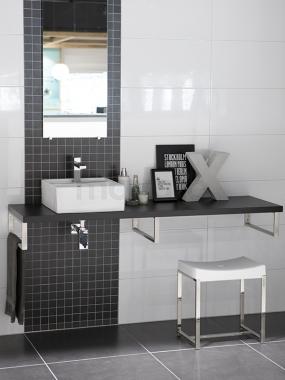 Uni zwart-wit badkamer