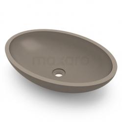 Waskom Buco Beton Donker grijs 60x35x15cm Ovaal