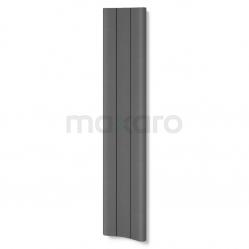 Aluminium Designradiator Carme Donkergrijs Metallic 774 Watt 37x180cm Verticaal