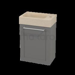 Toiletmeubel met Wastafel Natuursteen Modulo+ Pico Basalt 40cm