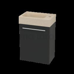 Toiletmeubel met Wastafel Natuursteen Modulo+ Pico Carbon 40cm