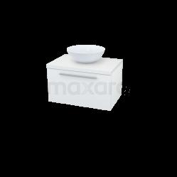 Badkamermeubel voor Waskom 70cm Modulo Plato Hoogglans Wit 1 Lade Vlak