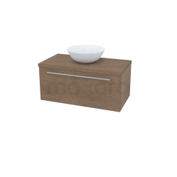 Badkamermeubel voor Waskom 90cm Modulo Plato Bruin 1 Lade Vlak