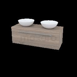 Badkamermeubel voor Waskom 120cm Modulo Plato Eiken 1 Lade Vlak Showroommodel
