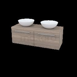 Badkamermeubel voor Waskom 120cm Modulo Plato Eiken 2 Lades Vlak Showroommodel