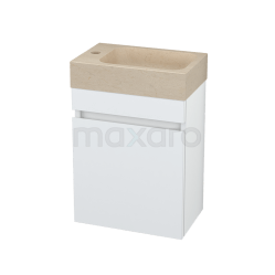 Toiletmeubel met Wastafel Natuursteen Modulo Pico Hoogglans Wit 40cm