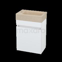 Toiletmeubel met Wastafel Natuursteen Modulo Pico Hoogglans Wit 40cm Showroommodel