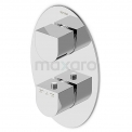 Inbouw Douchekraan Distinct Chrome, Thermostatisch, Chroom Maxaro Undi 11.152.502NS