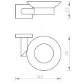 Zeepbakje MOCOORI 130 serie 130-4101