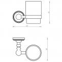 Bekerhouder met glas MOCOORI 180 serie 180-3101