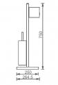 Toiletrolhouder Staand Radius Chrome, Chroom