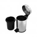 Pedaalemmer Radius Chrome voor Badkamer en Toilet, 3 liter, Chroom