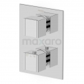 Douchekraan Cubic Chrome Inbouw Thermostaat Chroom Maxaro Cubic 22.152.502NS