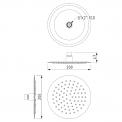 Regendoucheset Balance Chrome, Thermostaatkraan, 20cm Hoofddouche, Chroom
