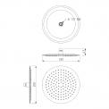 Regendoucheset Balance Chrome, Thermostaatkraan, 25cm Hoofddouche, Chroom