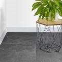 Vloertegel/Wandtegel Viene Ombergrijs 60x60cm Natuursteenlook Antraciet Gerectificeerd