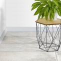 Vloertegel/Wandtegel Atelier Ivory 30x90cm Betonlook Grijs Gerectificeerd