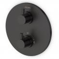 Inbouw Regendoucheset Radius Black, Thermostaatkraan, 25cm Hoofddouche, Zwart