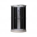 Complete Douchecabine 90x90cm Zwart Modera Watermassage LED Verlichting