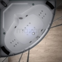 Stoomcabine met Bad Modera 2 Persoons 140x140cm Spiegelglas Mistjets LED Bluetooth