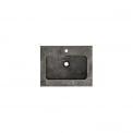 Maxaro Modulo+ BMP001089 Badkamermeubel 60cm Modulo+ Basalt 1 Lade Lamel Wastafel Natuursteen Blue Stone