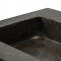 Badkamermeubel 80cm Modulo+ Eiken 2 Lades Kader Wastafel Natuursteen Blue Stone