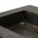 Badkamermeubel 120cm Modulo+ Basalt 2 Lades Lamel Wastafel Natuursteen Blue Stone