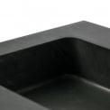 Badkamermeubel 100cm Modulo+ Hoogglans Wit 1 Lade Vlak Wastafel Natuursteen Graniet