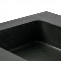 Badkamermeubel 120cm Modulo+ Basalt 2 Lades Lamel Wastafel Natuursteen Graniet