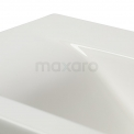 Badkamermeubel 80cm Modulo+ Slim Hoogglans Wit 2 Lades Vlak Wastafel Keramiek