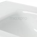 Badkamermeubel 90cm Modulo+ Carbon 2 Lades Greeploos Wastafel Glas