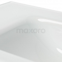 Badkamermeubel 60cm Modulo+ Mat Wit 2 Lades Greeploos Wastafel Glas