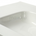 Badkamermeubel 80cm Modulo+ Hoogglans Wit 1 Lade Greeploos Wastafel Keramiek