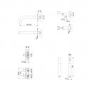 VARONO Cinqa BSP-5503-10001 Badset inbouw Rvs look