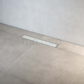 Douchegoot RVS met Flens 50cm Glass White Rooster