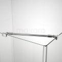 Douchecabine 130x70cm Zircon Comfort met Draaideur