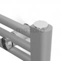 Handdoekradiator Mars Lichtgrijs Metallic 875 Watt 60x170cm Verticaal Staal