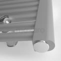 Lichtgrijze Metallic Handdoekradiator Mars 559 Watt 60x110cm Verticaal