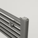 Donkergrijze Metallic Handdoekradiator Mars 875 Watt 60x172cm Verticaal