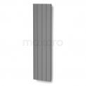 Aluminium Designradiator Saturn Lichtgrijs Metallic 1543 Watt 49,5x200cm Verticaal Maxaro Saturn DR50_0420RLN