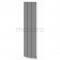 Aluminium Designradiator Jupiter Lichtgrijs Metallic 525 Watt 28x120cm Verticaal Maxaro Jupiter DR52_0312RLN