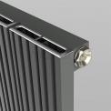 Aluminium Designradiator Uranus Lichtgrijs Metallic 999 Watt 47x120cm Verticaal