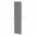 Aluminium Designradiator Neptune Lichtgrijs Metallic 2940 Watt 44,5x200cm Verticaal Maxaro Neptune DR54_0620RLN