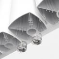 Aluminium Designradiator Neptune Glanzend Wit 2940 Watt 44,5x200cm Verticaal